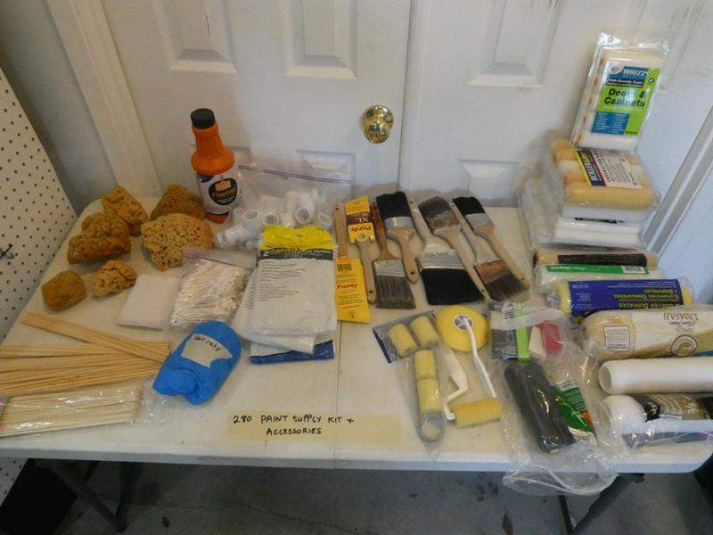 Lot # 280- Paint supplies and accessories (main image)