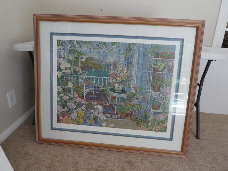 Lot # 58- large gorgeous garden picture (main image)
