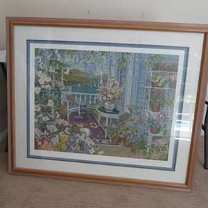 Lot # 58- large gorgeous garden picture