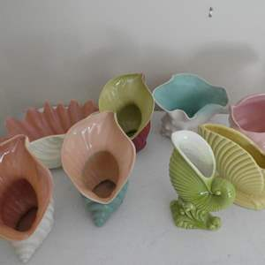 Lot # 59-McCoy pottery, sea shells! Perfect condition! Collectors pieces!