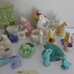 Lot # 61- McCoy ceramics, variety of animals