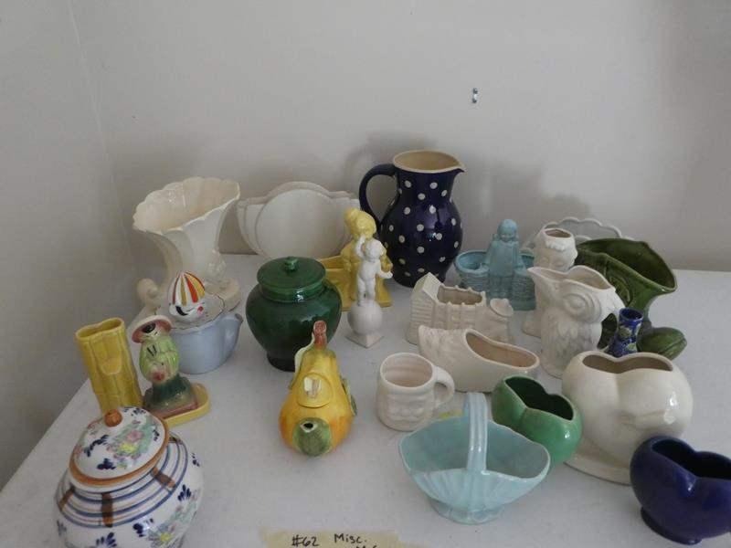 Lot # 62- McCoy and misc. ceramics (main image)