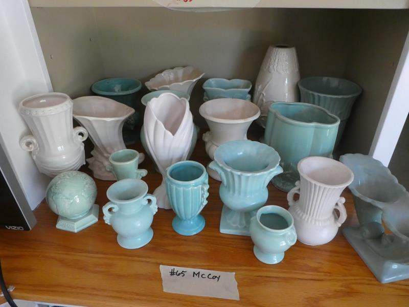 Lot # 65-More McCoy! Blues and whites, vases and more! (main image)