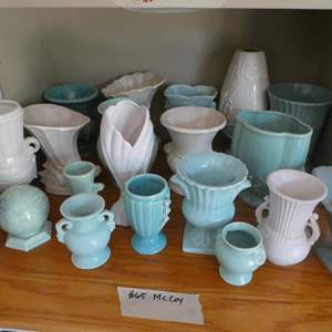 Lot # 65-More McCoy! Blues and whites, vases and more!