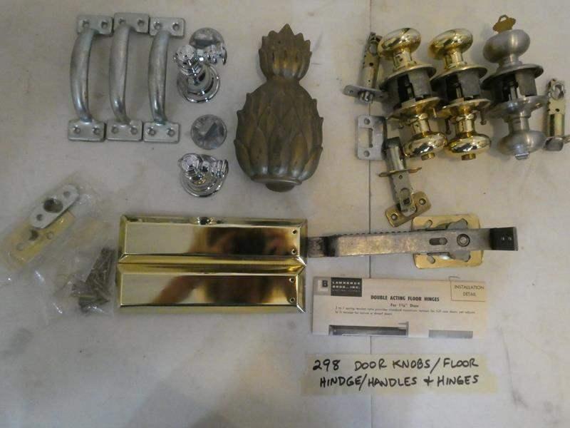 Lot # 298-door knobs, handles, hinges + (main image)