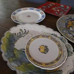 Lot # 78- Miscellaneous serving platters.