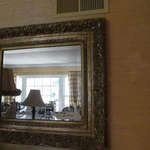 Lot # 80- heavy duty mirror with antique gold border