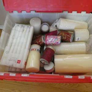 Lot # 81- Candle! A full bin of all kinds of candles!