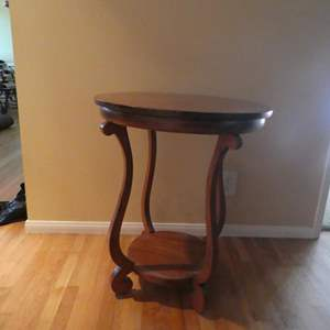 Lot # 85- Solid wood accent table! Beautiful piece