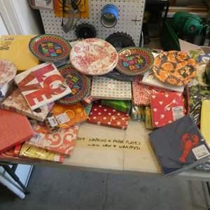 Lot # 309- Napkins, paper plates (still wrapped) Huge box!