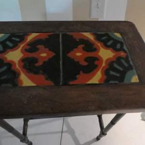 Lot # 93- Cute, tile accent table!