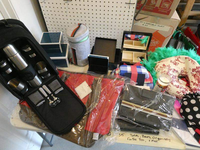 Lot # 315- Picnic kit, organizer, jewelry boxes, totes- oh my! (main image)