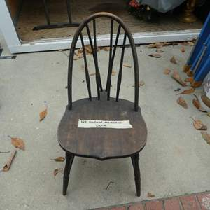 Lot # 323-vintage mahogany chair