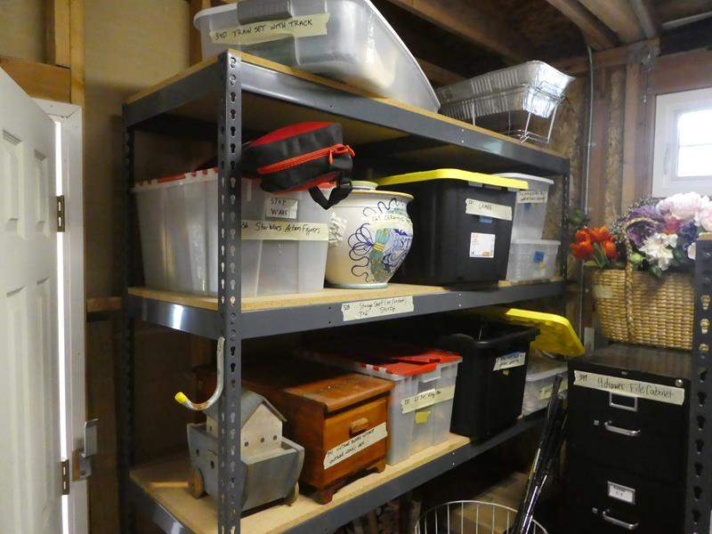 Lot # 328- Storage shelf only- not the contents (main image)