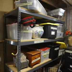 Lot # 328- Storage shelf only- not the contents