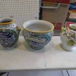 Lot # 329-  Beautiful ceramic pots