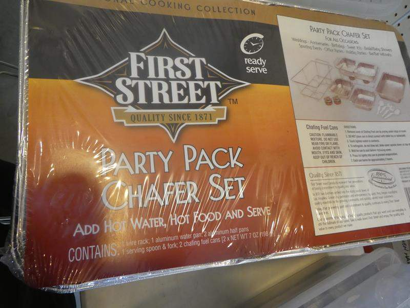 Lot # 326- There are TWO party pack Chafer sets!!! Plastic condiment dispensers (main image)