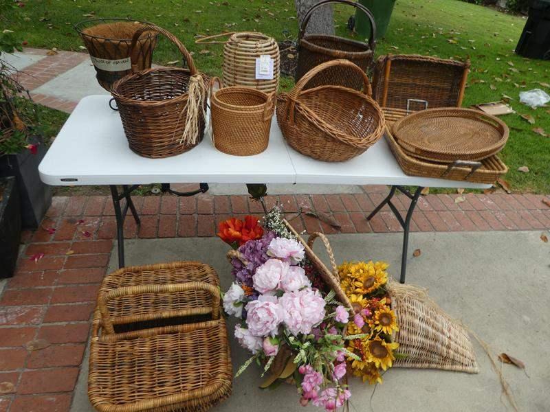 Lot # 347- Baskets, baskets and more baskets (main image)