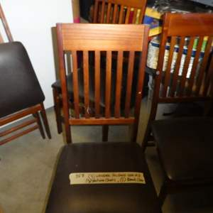 Lot # 358- for wooden folding chairs, stadium chairs and a beach chair