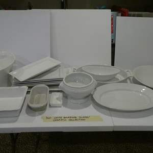 Lot # 360-  Amazing white ceramic glass collection