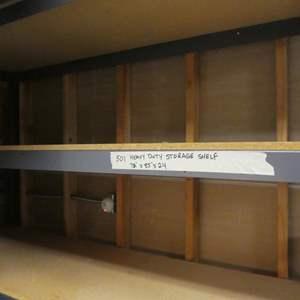 Lot # 501-sturdy storage shelf
