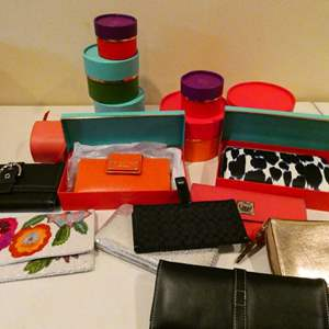 Lot # 110- Kate spade, coach, and more wallet collection