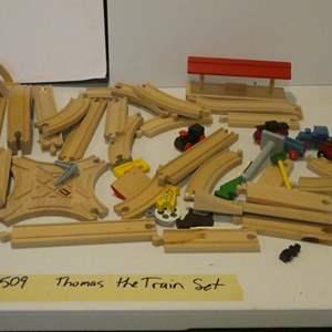 Lot # 509-Thomas the Train set (wooden)