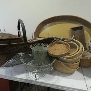 Lot # 512- BASKETS! They are many!!!