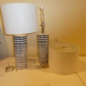 Lot # 514-Stylish lamps -(two)