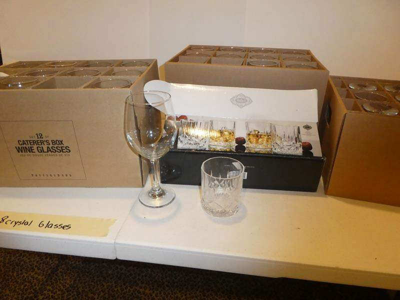 Lot # 515- wine glasses (34) Never run out! (main image)