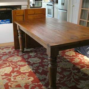 Lot # 1- Awesome Rustic dinning table! From pottery barn!
