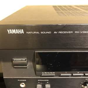 Lot # 117-Yamaha Natural sound AV receiver RX-V393 Cinema- working! and Kenwood Audio-video receiver