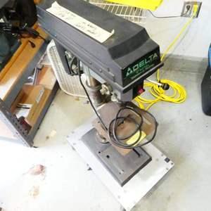 Lot # 215- Delta 12 inch drill press (on casters).