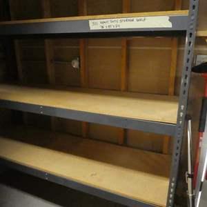 Lot # 355- Duty storage garage shelf