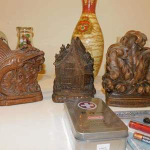 Lot # 382- Assorted cool stuff! Decorations, wood collectibles, sea shells, and more