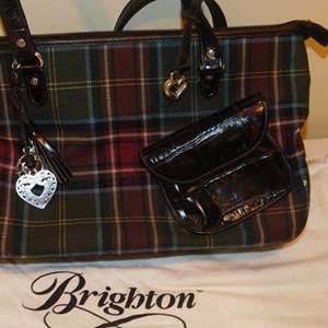 Lot # 409-Brighton hand bag, plaid, gently used, comes with bag