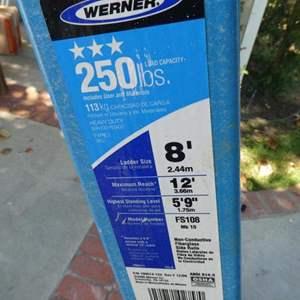 Lot # 522- 8 foot fiberglass ladder