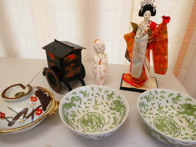 Lot # 10- Asian collectibles. Some made in Japan  (main image)