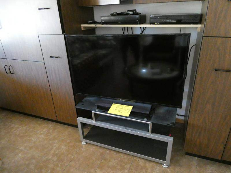 "Lot # 226- Samsung (approx.) 51"" TV with stand and Sony dvd/vcr player (main image)"