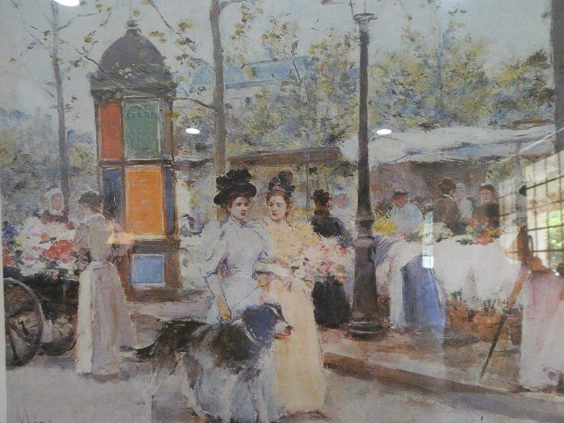 Lot # 228- Framed print painting by Francisco Miralles (main image)