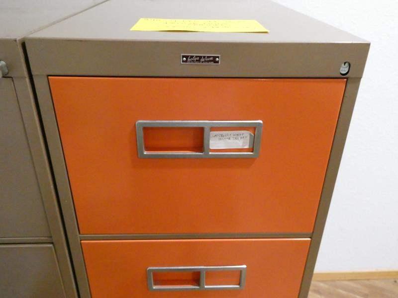 Lot # 240- 4 drawer Holga filing cabinet (main image)