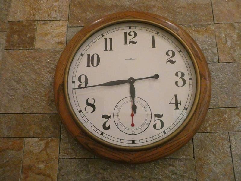 Lot # 46- wood decor! Clock, German hand painted basket and key holder  (main image)