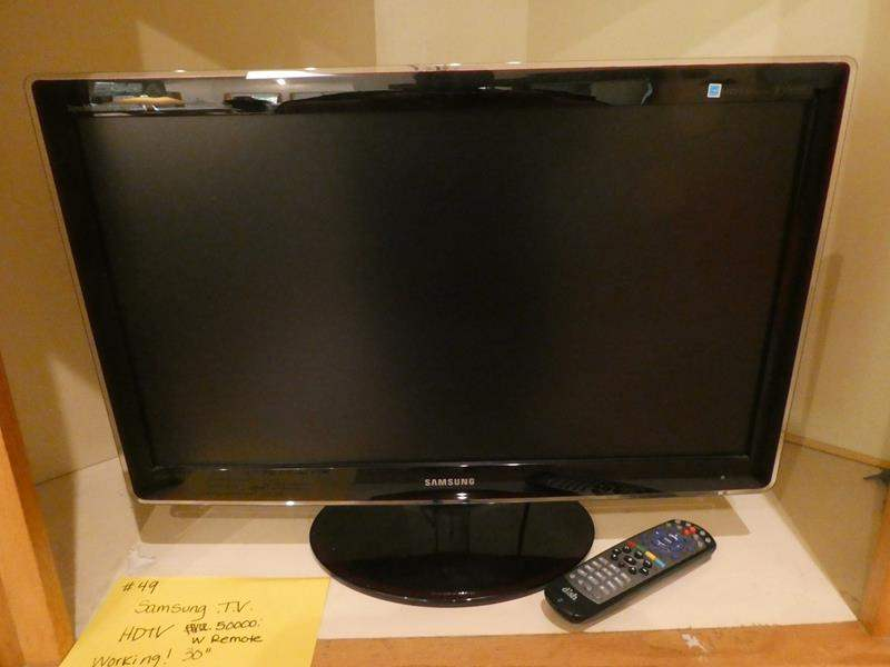 "Lot # 49- 30"" Samsung TV. HDTV With remote (main image)"