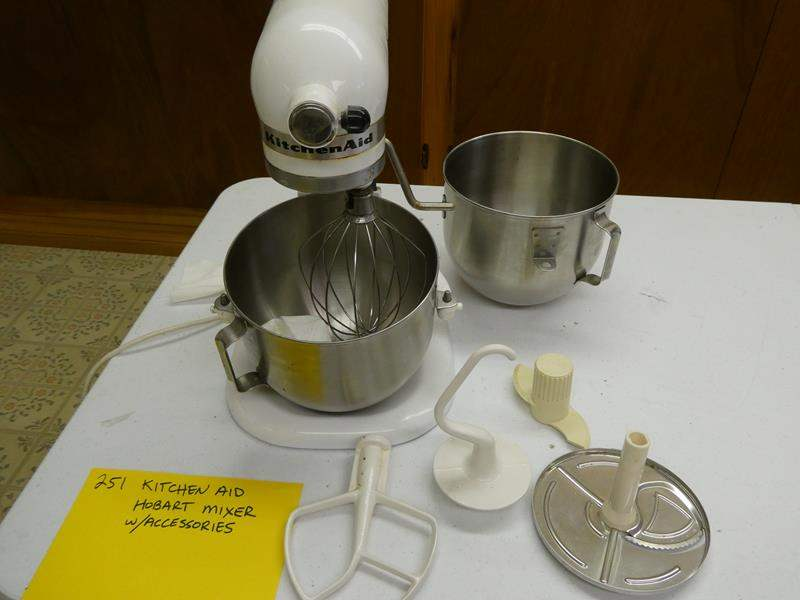 Lot # 251- Kitchen aid- Hobart Mixer with accessories (main image)