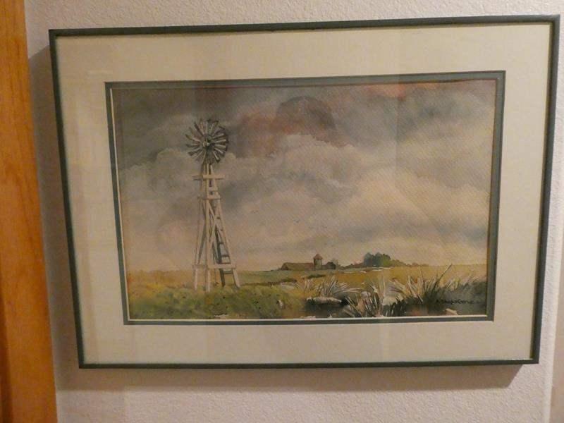Lot # 56- 8 total: Beach prints and farm prints Framed art  (main image)
