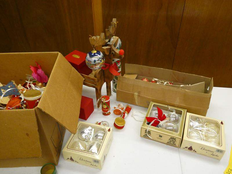Lot # 252- Christmas ornaments and decorations and more! (main image)