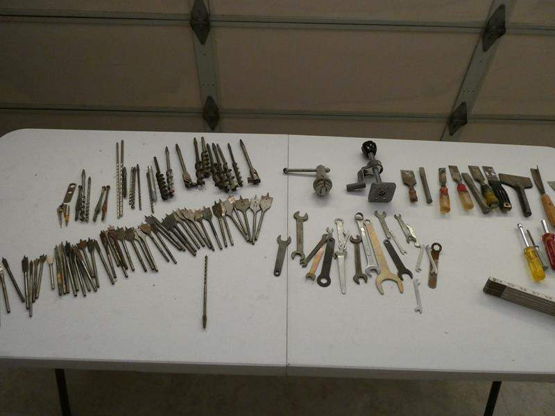 Lot # 261-Drill bits, box of wrenches, chisels and more (main image)