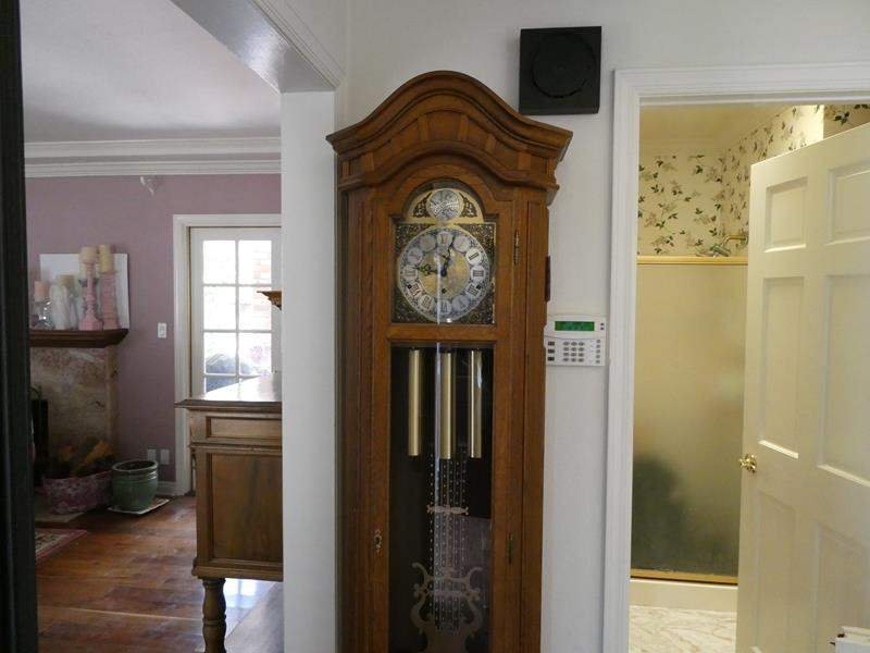 Lot # 2- Solid wood Grandfather Clock with key (main image)