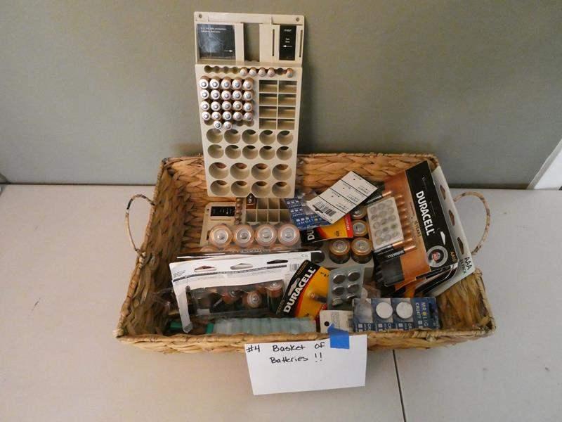 Lot # 4- Basket of batteries! Every kind! (main image)