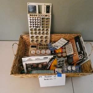 Lot # 4- Basket of batteries! Every kind!